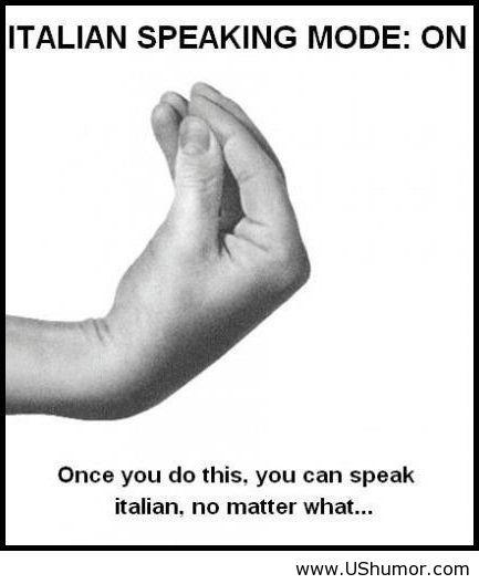 italian language gesture